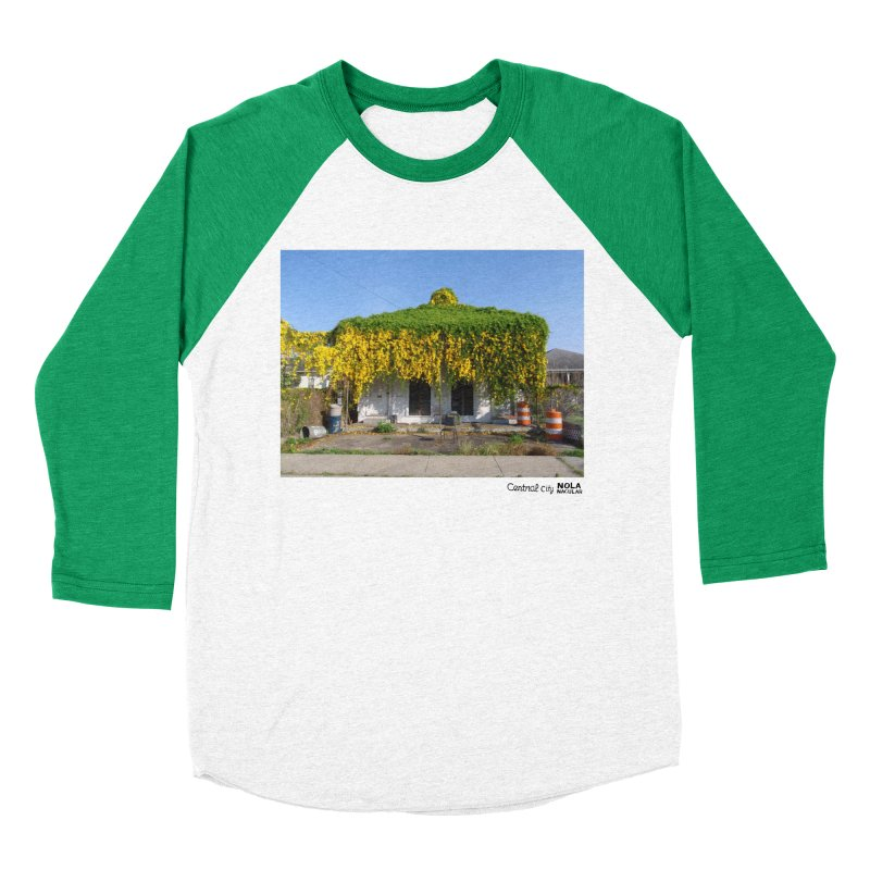Cat's Claws in Central City Men's Baseball Triblend Longsleeve T-Shirt by NOLA 'Nacular's Shop