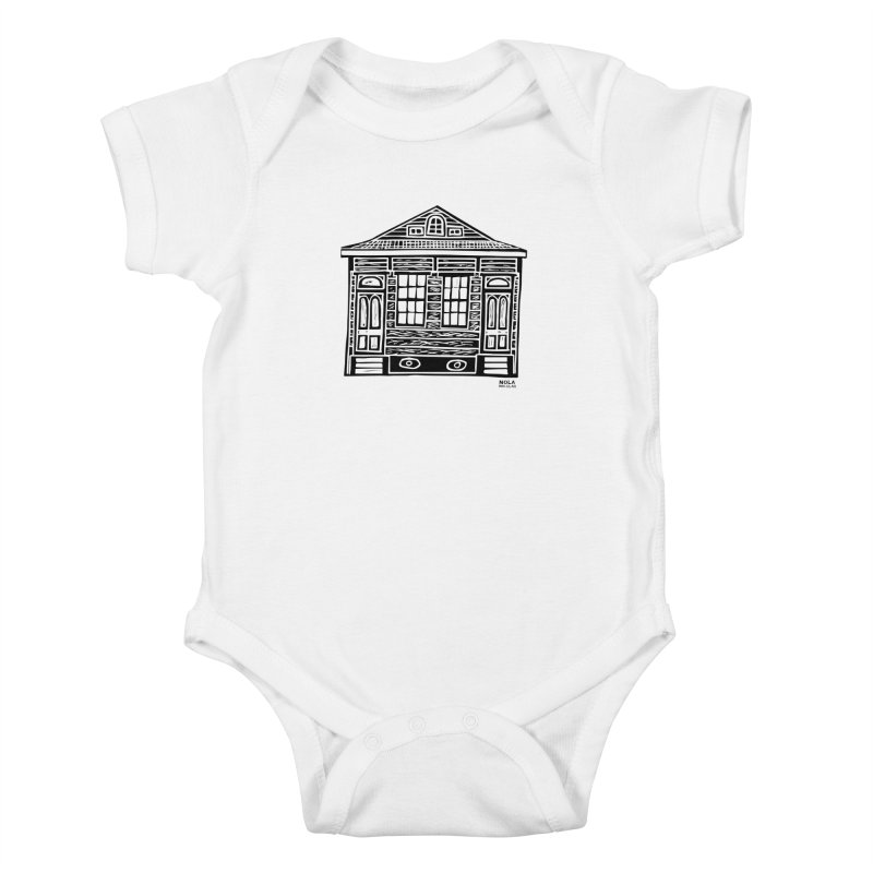 Four Bay Shot Gun in black Kids Baby Bodysuit by NOLA 'Nacular's Shop