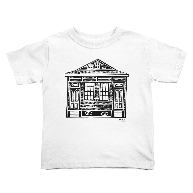 Four Bay Shot Gun in black Kids Toddler T-Shirt by NOLA 'Nacular's Shop