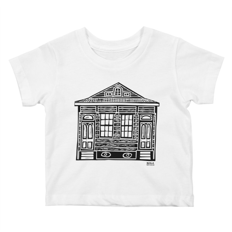 Four Bay Shot Gun in black Kids Baby T-Shirt by NOLA 'Nacular's Shop