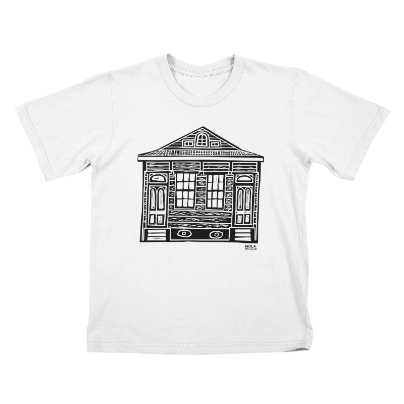 Four Bay Shot Gun in black Kids T-Shirt by NOLA 'Nacular's Shop