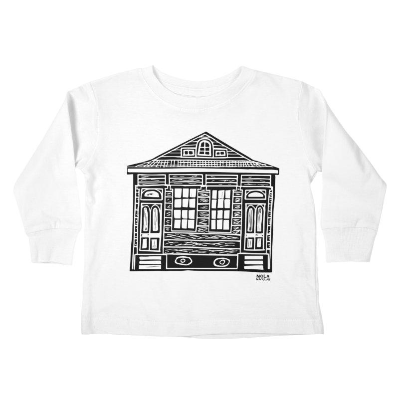 Four Bay Shot Gun in black Kids Toddler Longsleeve T-Shirt by NOLA 'Nacular's Shop