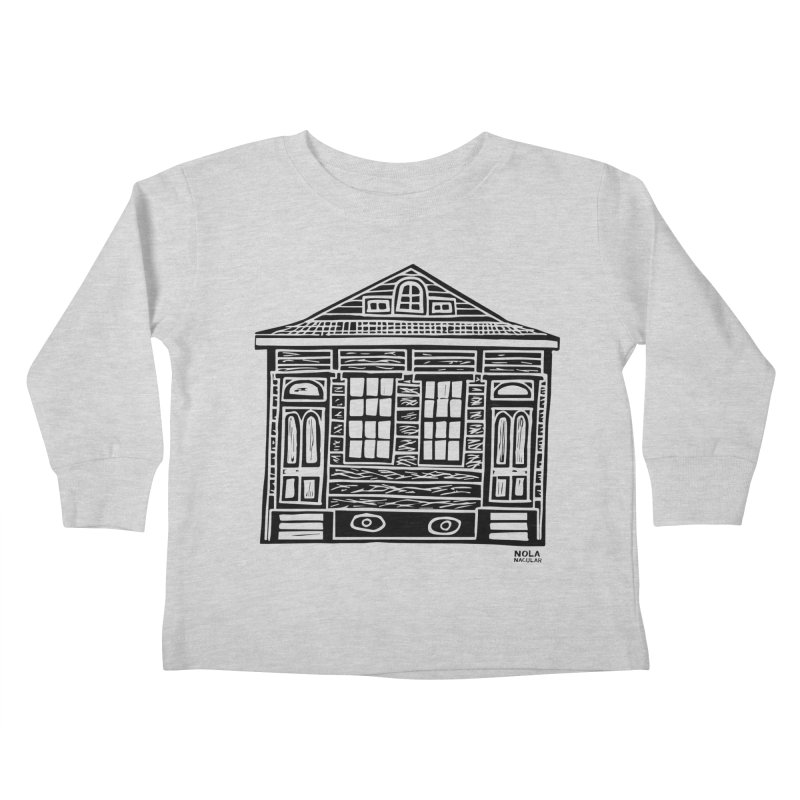 Four Bay Shot Gun in black Kids Toddler Longsleeve T-Shirt by NOLA 'Nacular's Shop