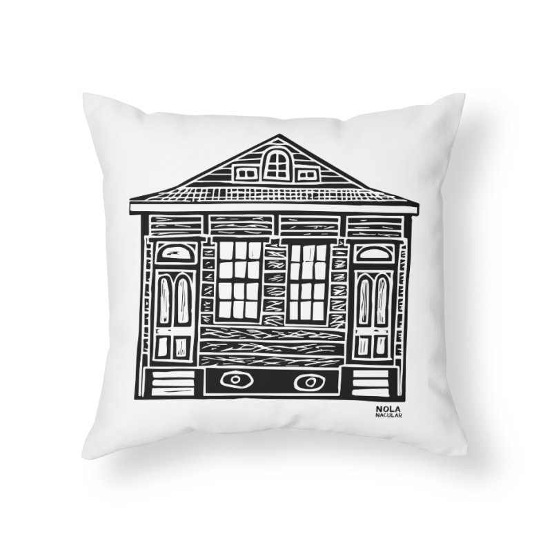 Four Bay Shot Gun in black Home Throw Pillow by NOLA 'Nacular's Shop