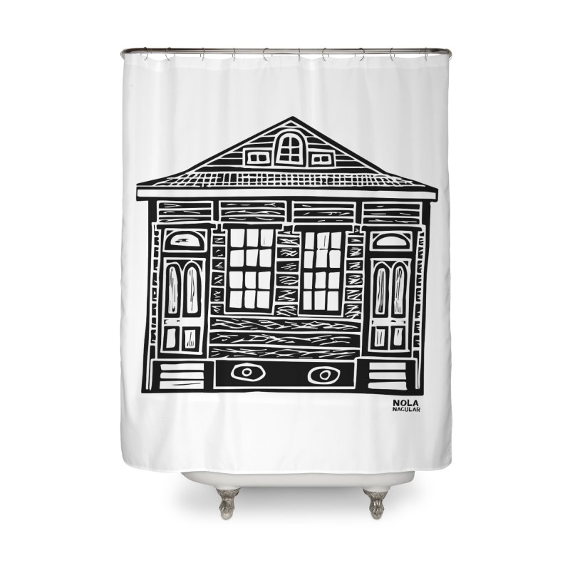 Four Bay Shot Gun in black Home Shower Curtain by NOLA 'Nacular's Shop