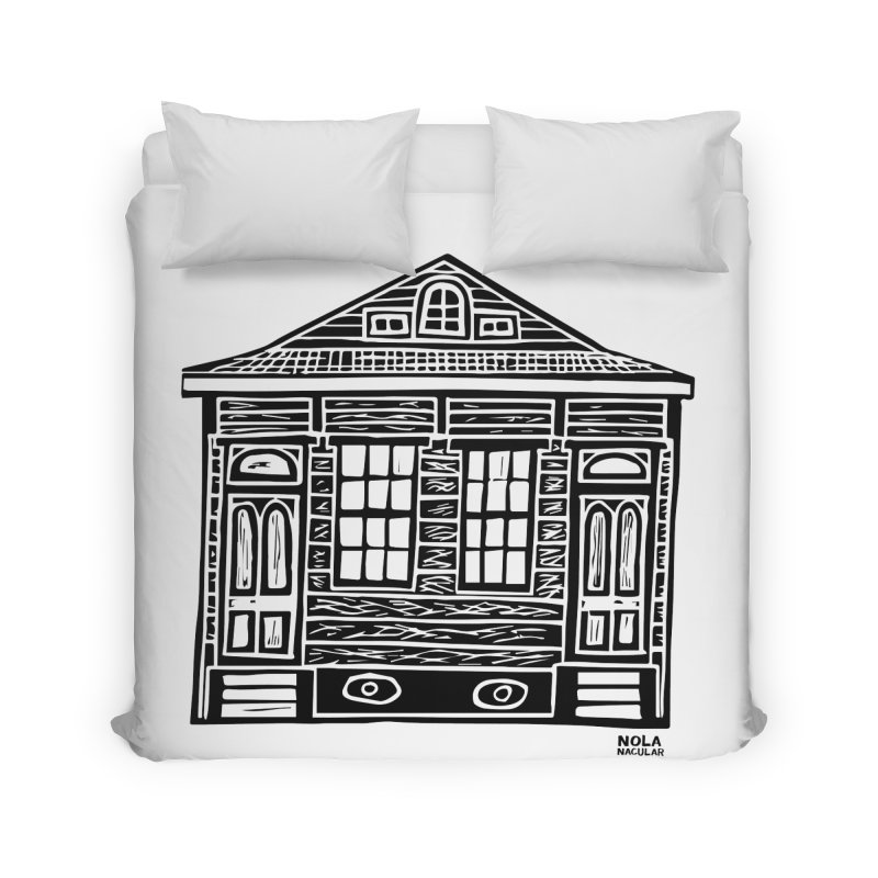 Four Bay Shot Gun in black Prints + Decor Duvet by NOLA 'Nacular's Shop