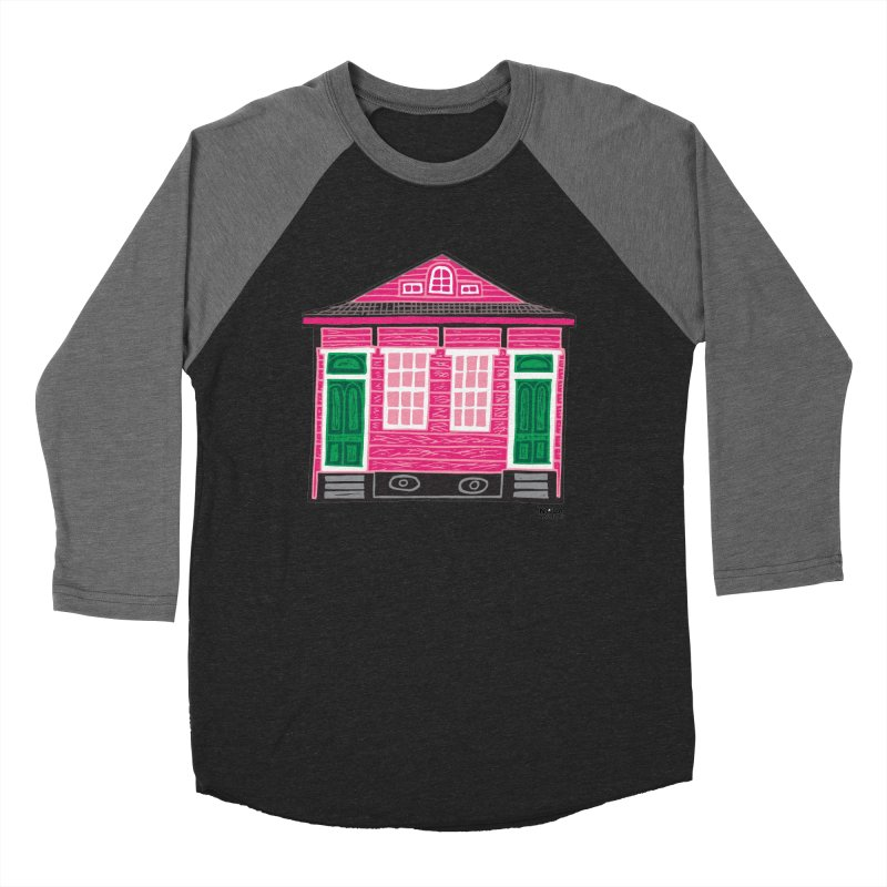 Four Bay Shot Gun in color Women's Baseball Triblend Longsleeve T-Shirt by NOLA 'Nacular's Shop