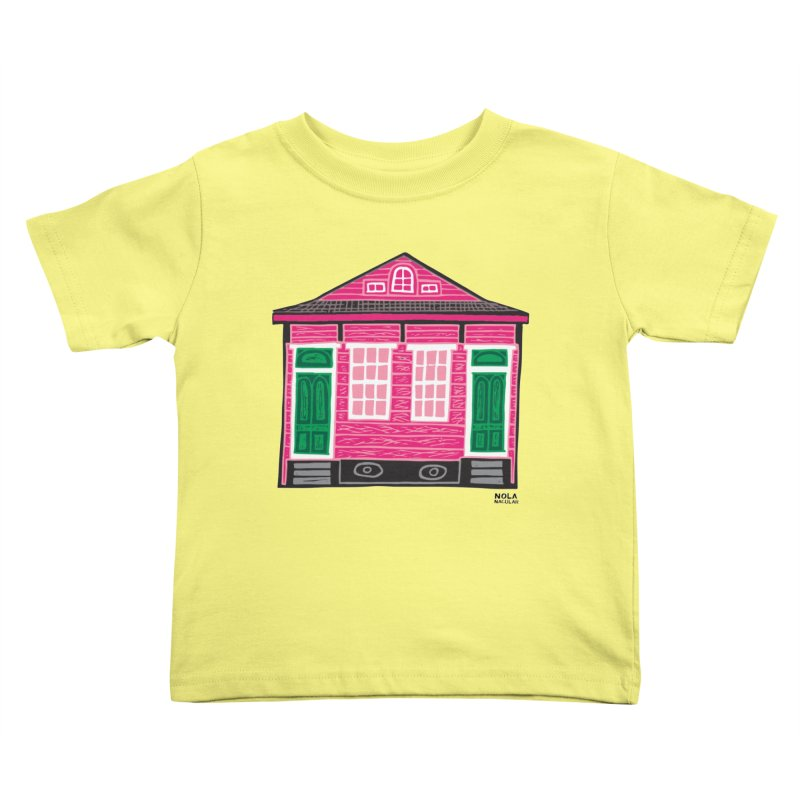 Four Bay Shot Gun in color Kids Toddler T-Shirt by NOLA 'Nacular's Shop
