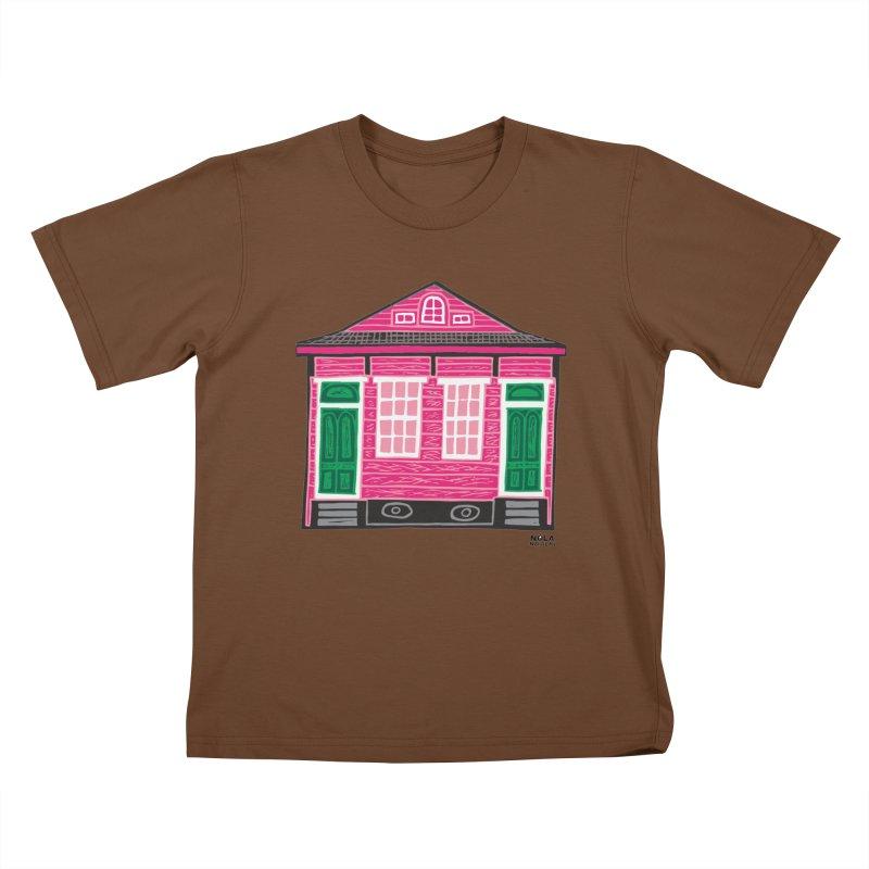 Four Bay Shot Gun in color Kids T-Shirt by NOLA 'Nacular's Shop