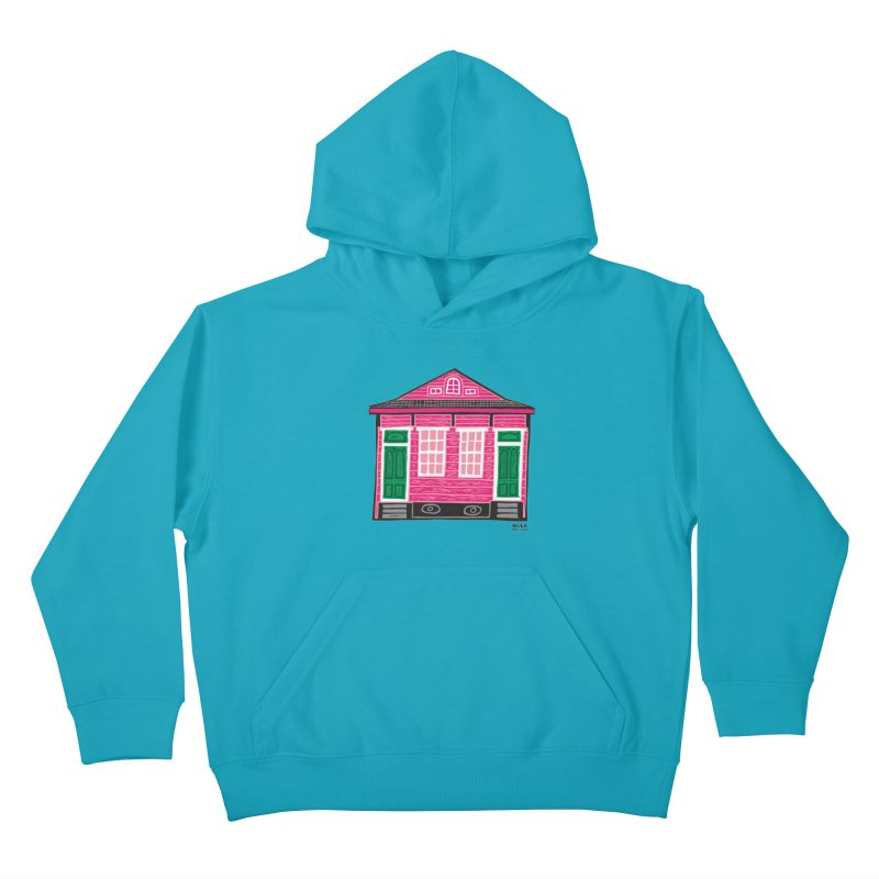 Four Bay Shot Gun in color Kids Pullover Hoody by NOLA 'Nacular's Shop