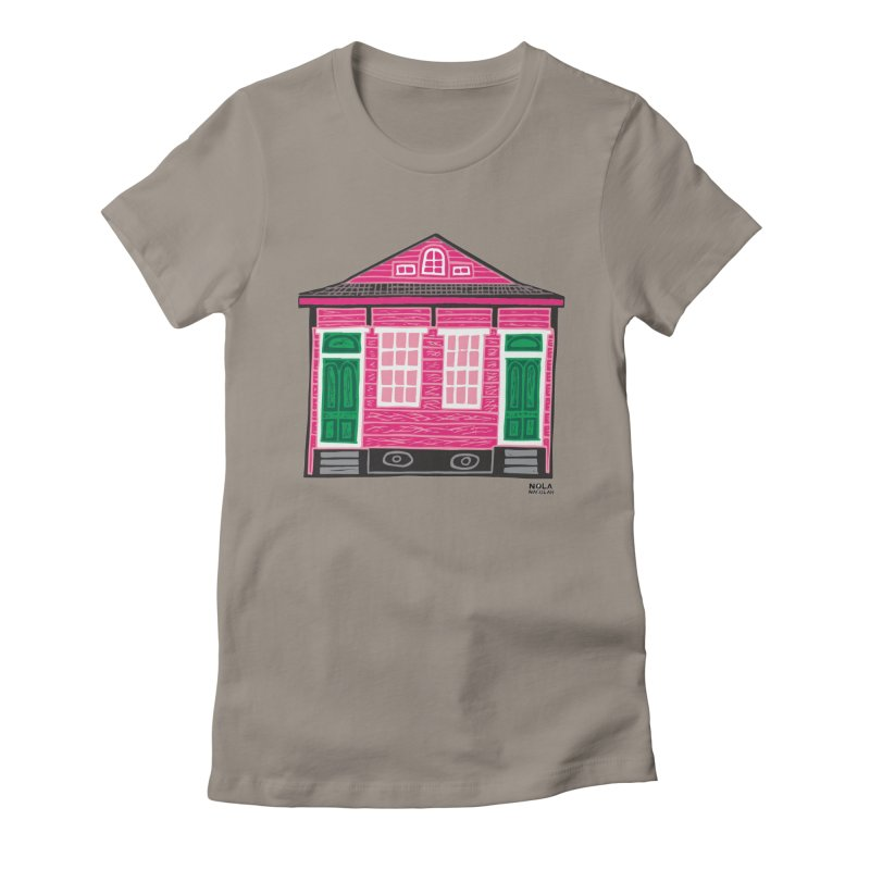 Four Bay Shot Gun in color Women's Fitted T-Shirt by NOLA 'Nacular's Shop