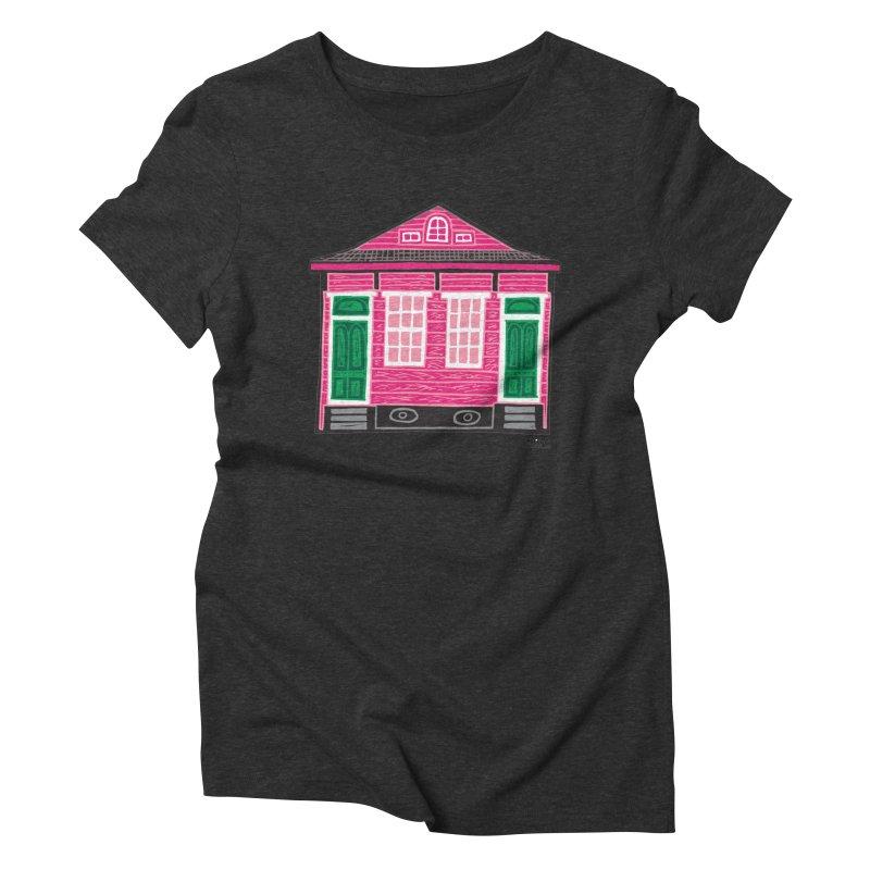 Four Bay Shot Gun in color Women's Triblend T-Shirt by NOLA 'Nacular's Shop