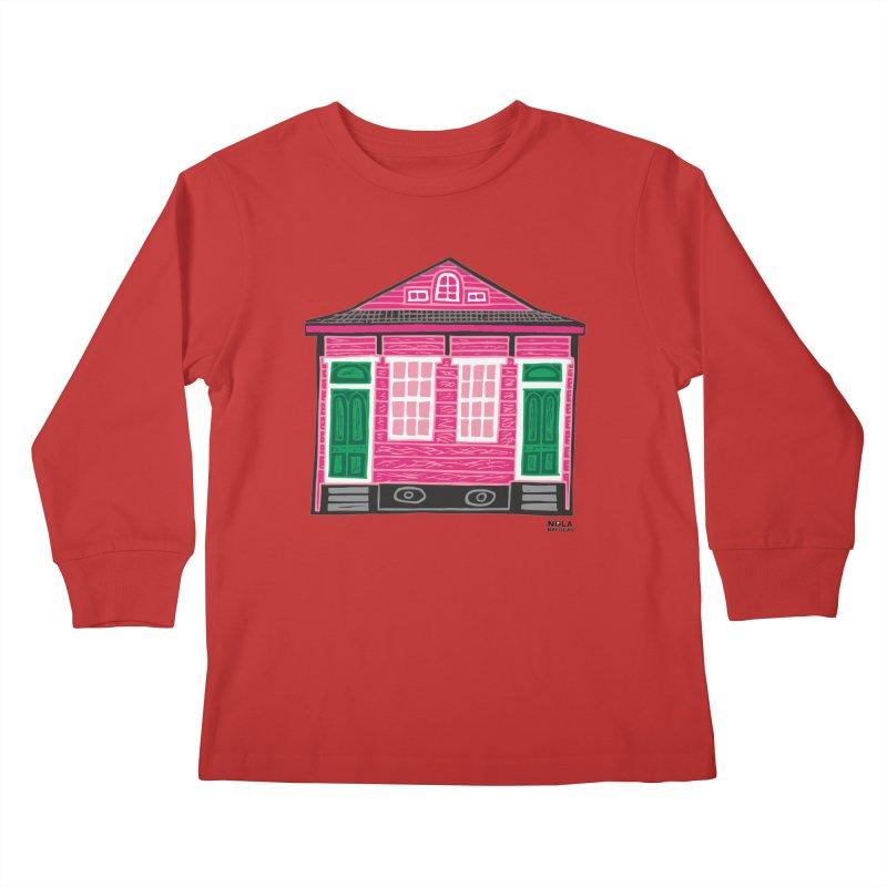 Four Bay Shot Gun in color Kids Longsleeve T-Shirt by NOLA 'Nacular's Shop
