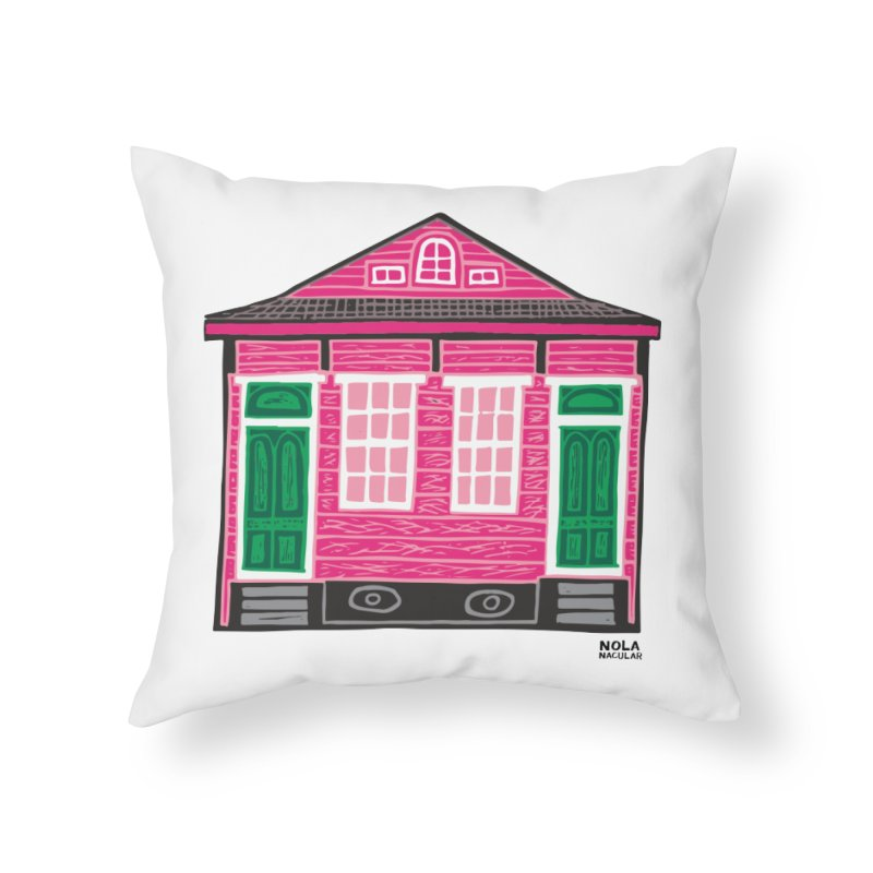 Four Bay Shot Gun in color Prints + Decor Throw Pillow by NOLA 'Nacular's Shop