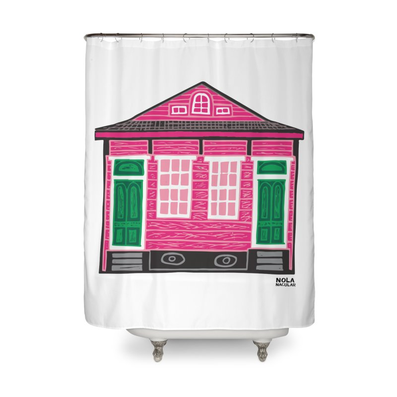 Four Bay Shot Gun in color Home Shower Curtain by NOLA 'Nacular's Shop