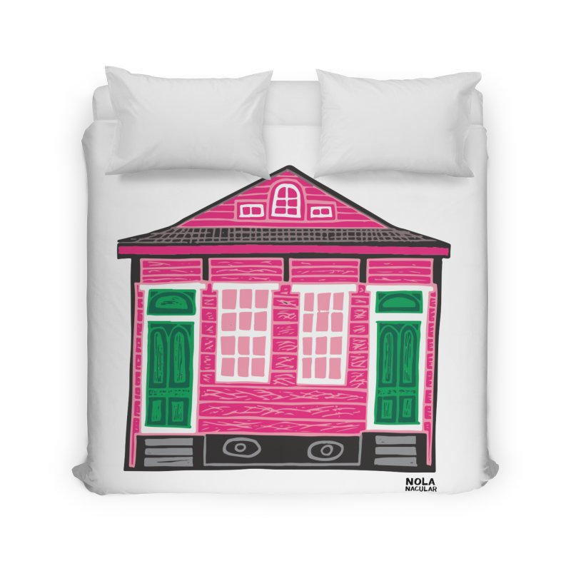 Four Bay Shot Gun in color Home Duvet by NOLA 'Nacular's Shop
