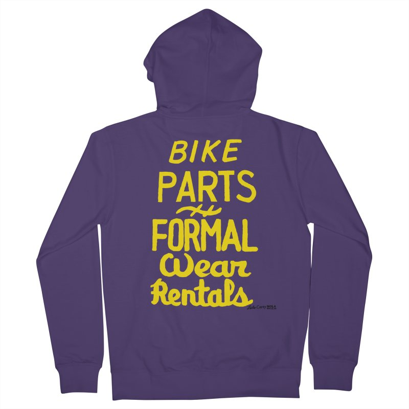 NOLA 'Nacular Bike Parts Formal Wear Rentals hand-painted sign by Lester Carey Women's French Terry Zip-Up Hoody by NOLA 'Nacular's Shop