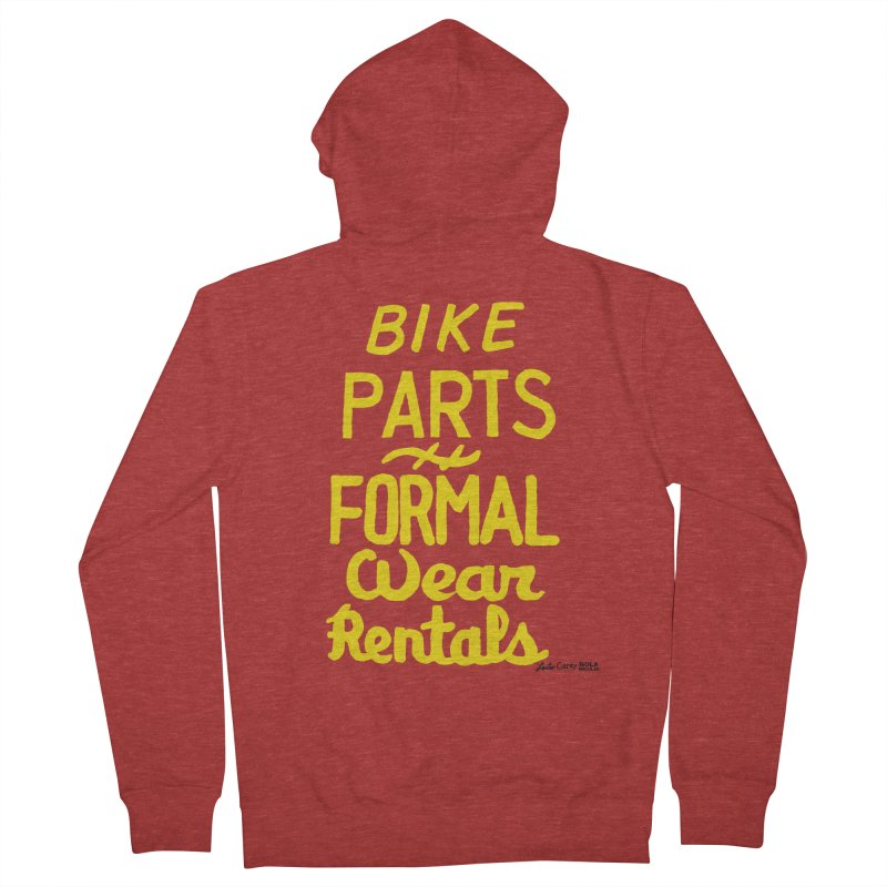 NOLA 'Nacular Bike Parts Formal Wear Rentals hand-painted sign by Lester Carey Men's French Terry Zip-Up Hoody by NOLA 'Nacular's Shop