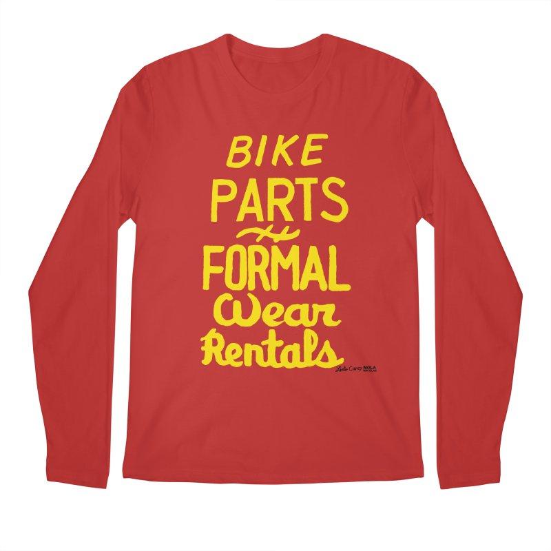 NOLA 'Nacular Bike Parts Formal Wear Rentals hand-painted sign by Lester Carey Men's Regular Longsleeve T-Shirt by NOLA 'Nacular's Shop