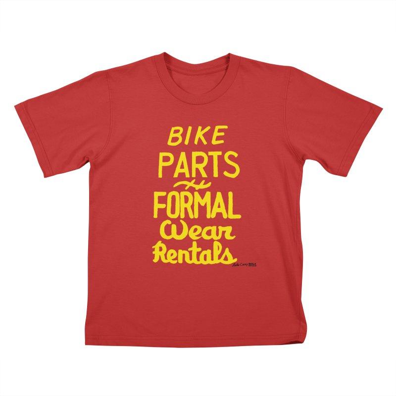 NOLA 'Nacular Bike Parts Formal Wear Rentals hand-painted sign by Lester Carey Kids T-Shirt by NOLA 'Nacular's Shop