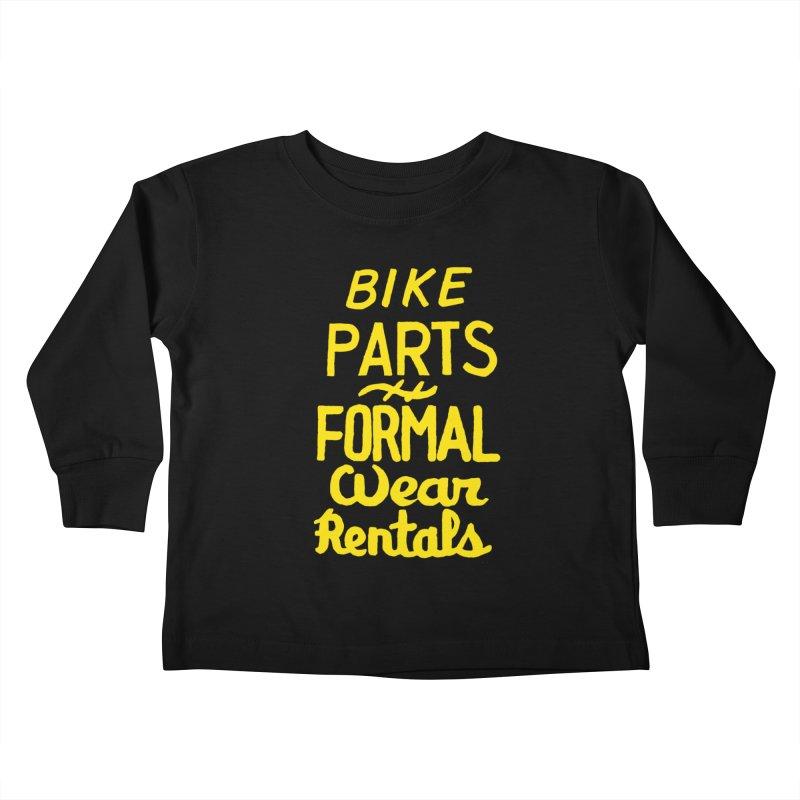 NOLA 'Nacular Bike Parts Formal Wear Rentals hand-painted sign by Lester Carey Kids Toddler Longsleeve T-Shirt by NOLA 'Nacular's Shop
