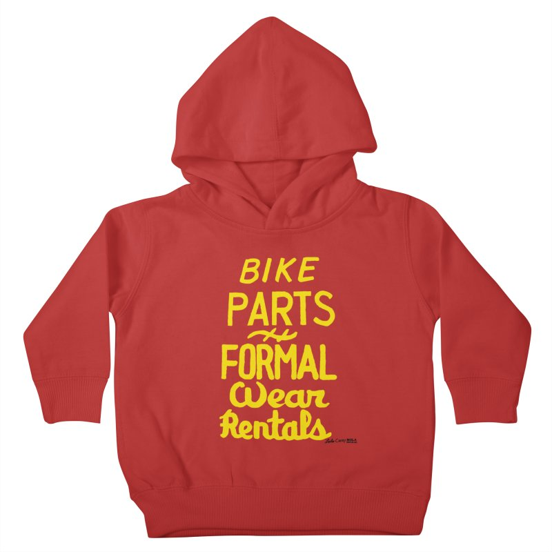 NOLA 'Nacular Bike Parts Formal Wear Rentals hand-painted sign by Lester Carey Kids Toddler Pullover Hoody by NOLA 'Nacular's Shop