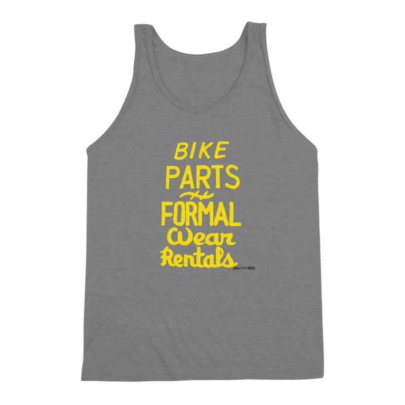 NOLA 'Nacular Bike Parts Formal Wear Rentals hand-painted sign by Lester Carey Men's Triblend Tank by NOLA 'Nacular's Shop