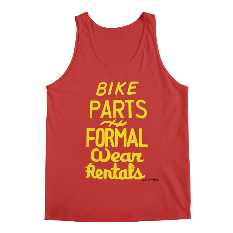 NOLA 'Nacular Bike Parts Formal Wear Rentals hand-painted sign by Lester Carey Men's Regular Tank by NOLA 'Nacular's Shop