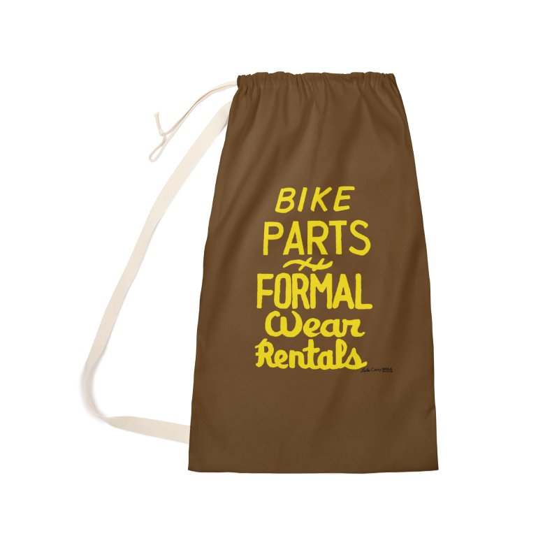 NOLA 'Nacular Bike Parts Formal Wear Rentals hand-painted sign by Lester Carey Accessories Laundry Bag Bag by NOLA 'Nacular's Shop