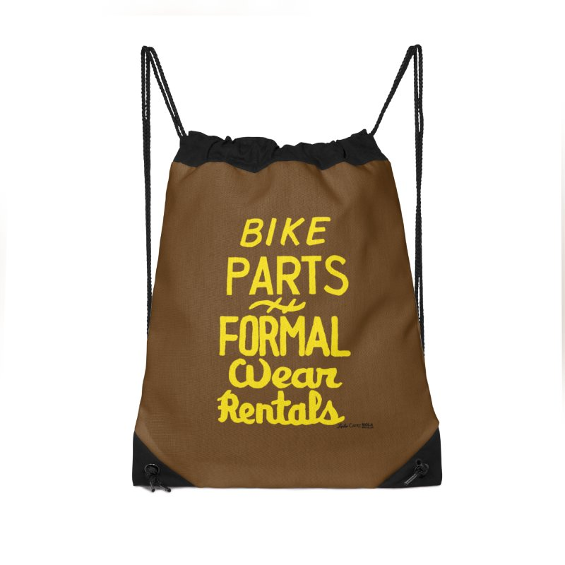 NOLA 'Nacular Bike Parts Formal Wear Rentals hand-painted sign by Lester Carey Accessories Drawstring Bag Bag by NOLA 'Nacular's Shop
