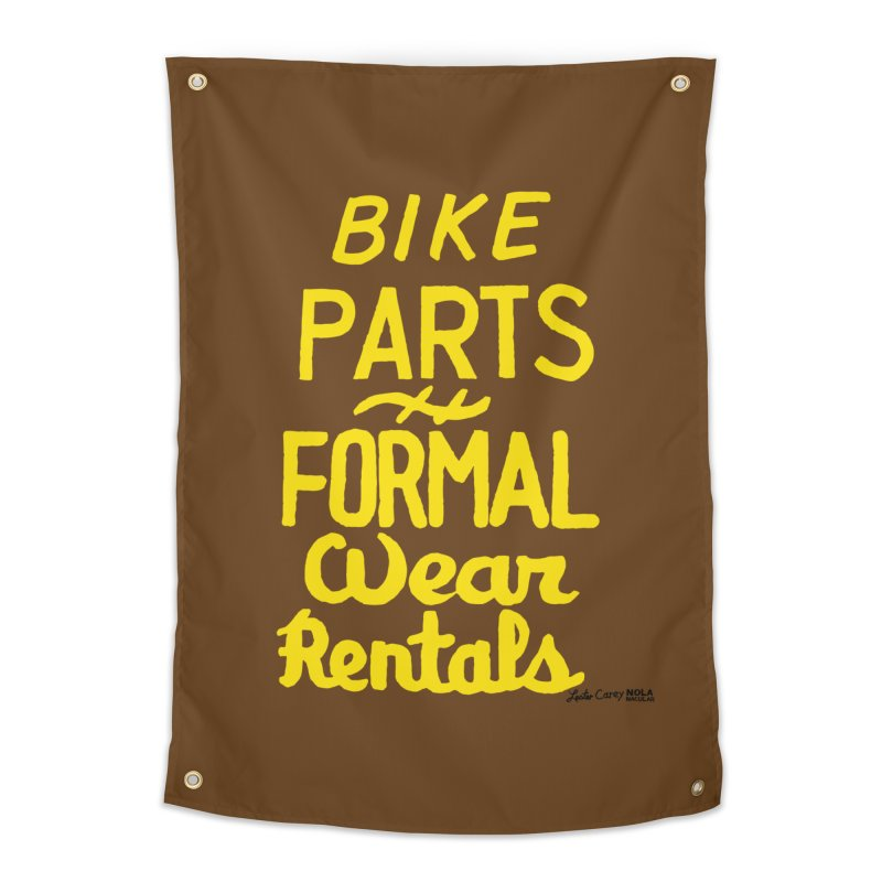 NOLA 'Nacular Bike Parts Formal Wear Rentals hand-painted sign by Lester Carey Home Tapestry by NOLA 'Nacular's Shop
