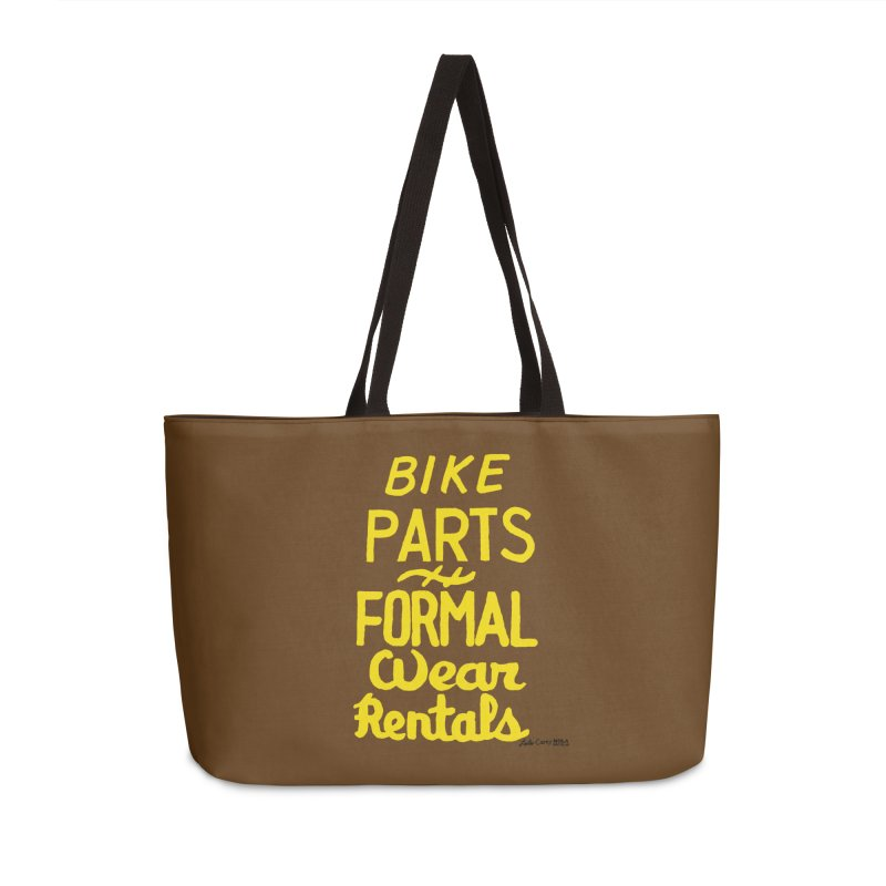 NOLA 'Nacular Bike Parts Formal Wear Rentals hand-painted sign by Lester Carey Accessories Weekender Bag Bag by NOLA 'Nacular's Shop
