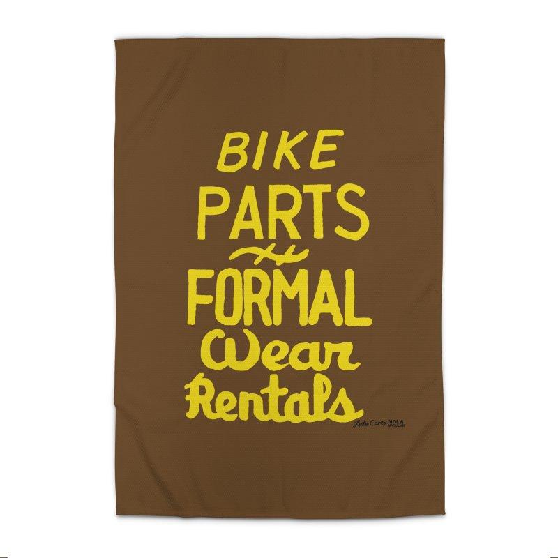 NOLA 'Nacular Bike Parts Formal Wear Rentals hand-painted sign by Lester Carey Prints + Decor Rug by NOLA 'Nacular's Shop
