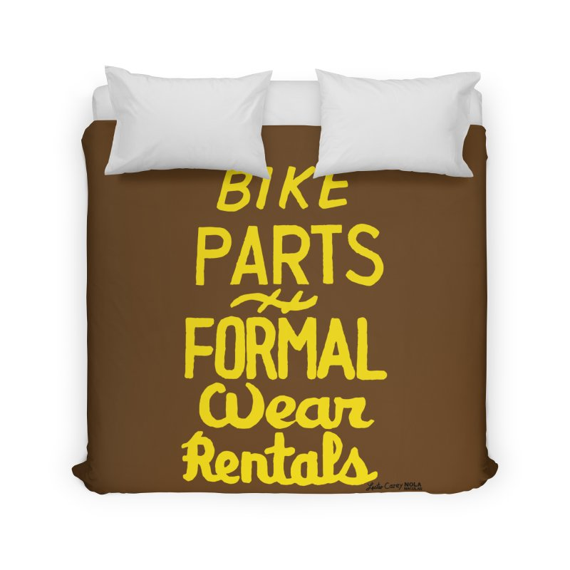 NOLA 'Nacular Bike Parts Formal Wear Rentals hand-painted sign by Lester Carey Prints + Decor Duvet by NOLA 'Nacular's Shop