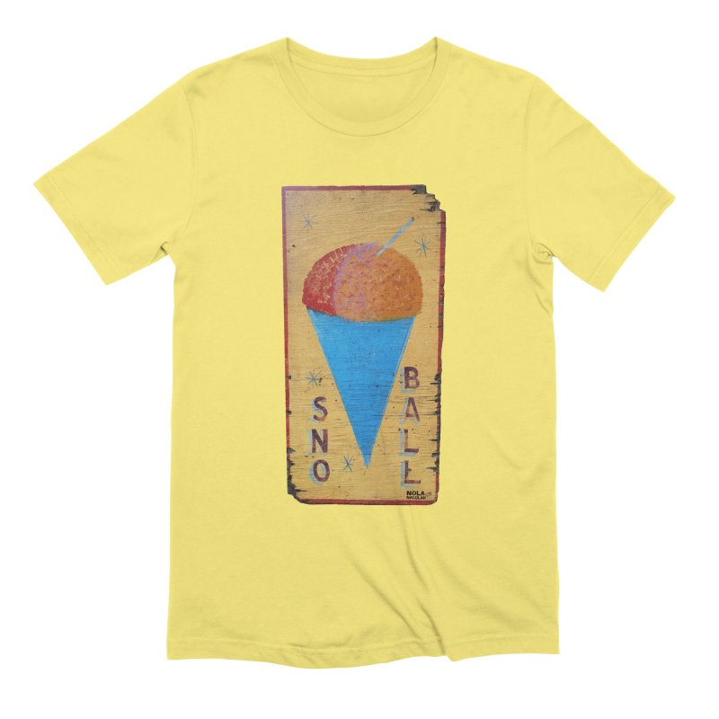 Sno Ball hand-painted sign Men's Extra Soft T-Shirt by NOLA 'Nacular's Shop