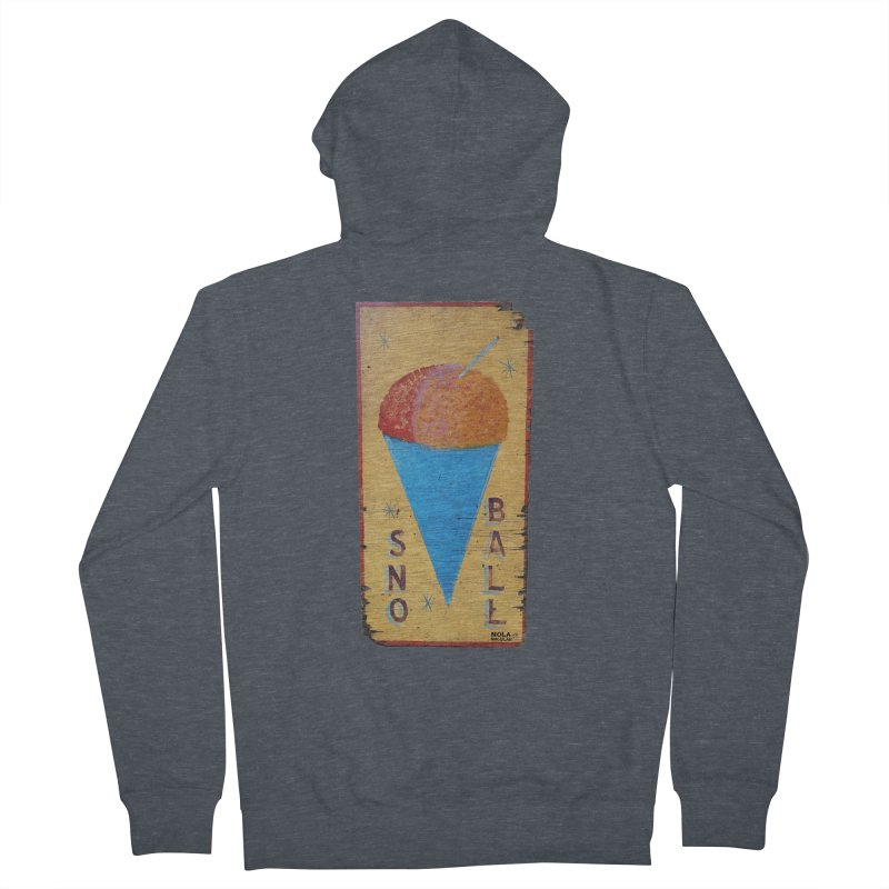 Sno Ball hand-painted sign Women's French Terry Zip-Up Hoody by NOLA 'Nacular's Shop