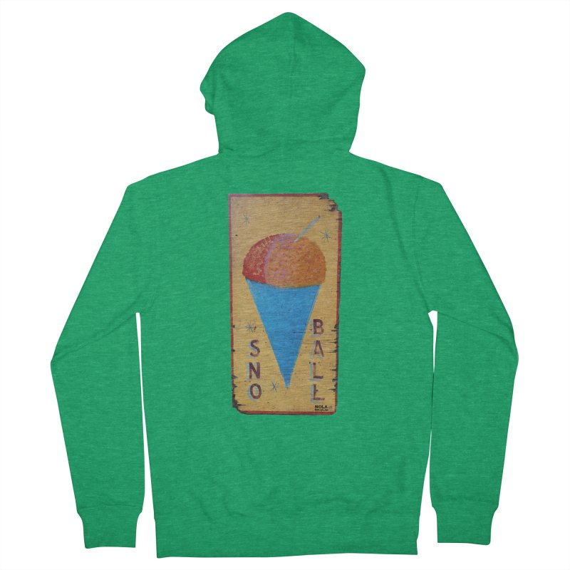 Sno Ball hand-painted sign Men's Zip-Up Hoody by NOLA 'Nacular's Shop
