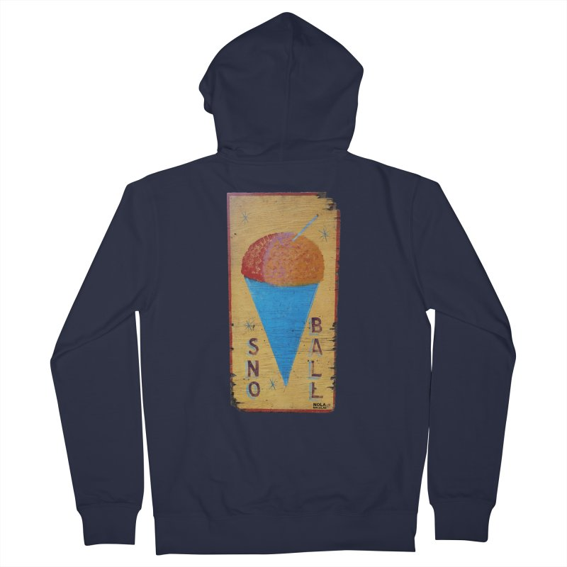 Sno Ball hand-painted sign Men's French Terry Zip-Up Hoody by NOLA 'Nacular's Shop