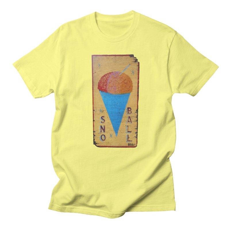 Sno Ball hand-painted sign Men's T-Shirt by NOLA 'Nacular's Shop