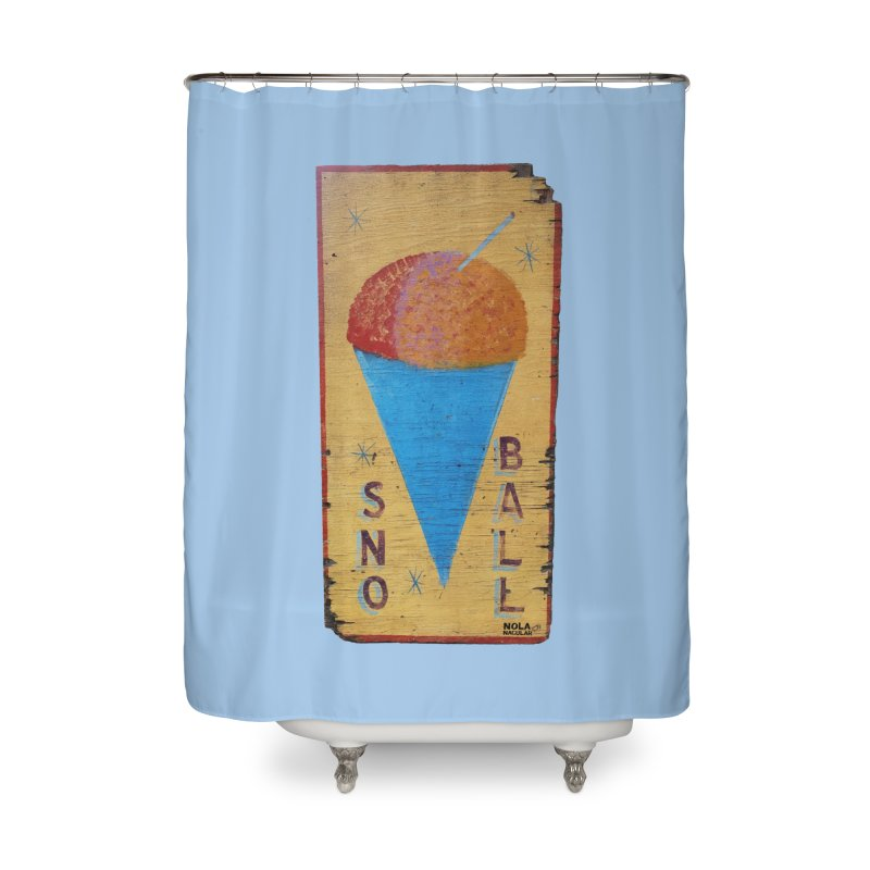 Sno Ball hand-painted sign Home Shower Curtain by NOLA 'Nacular's Shop
