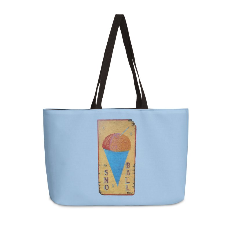 Sno Ball hand-painted sign Accessories Weekender Bag Bag by NOLA 'Nacular's Shop