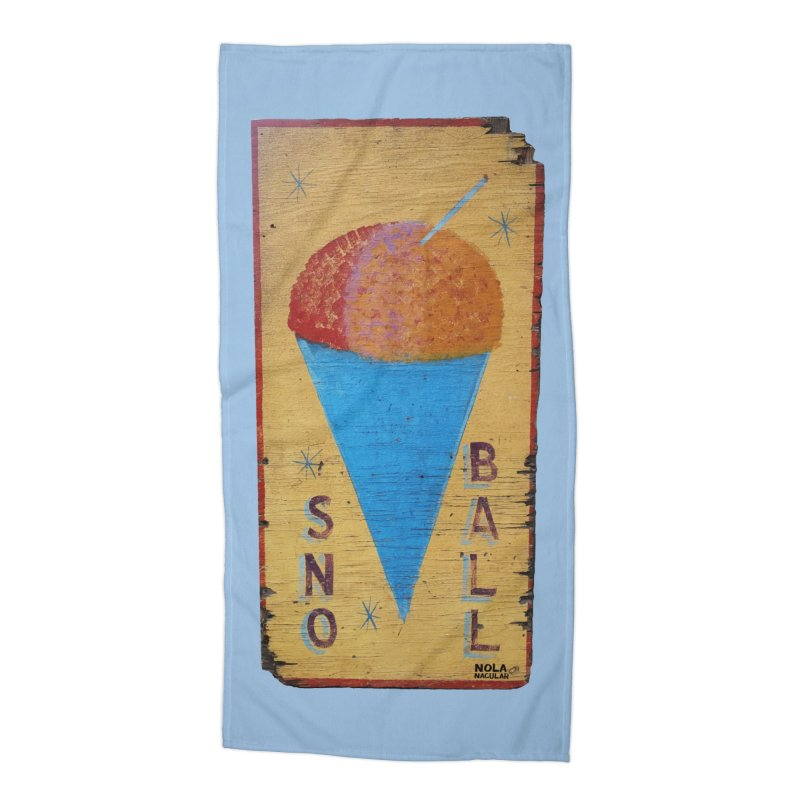 Sno Ball hand-painted sign Accessories Beach Towel by NOLA 'Nacular's Shop