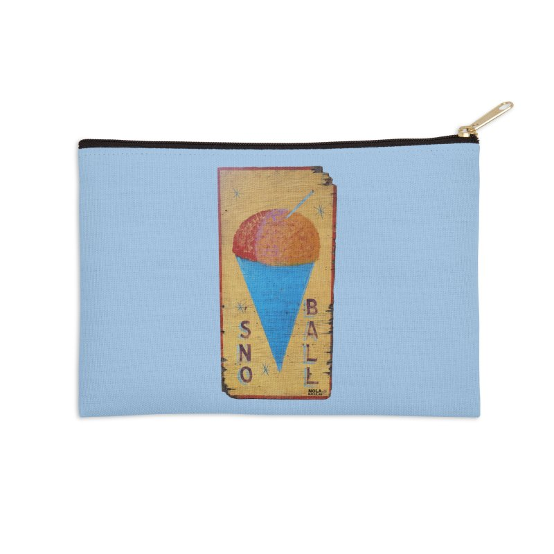 Sno Ball hand-painted sign Accessories Zip Pouch by NOLA 'Nacular's Shop
