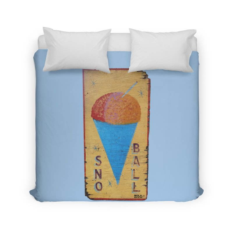 Sno Ball hand-painted sign Home Duvet by NOLA 'Nacular's Shop