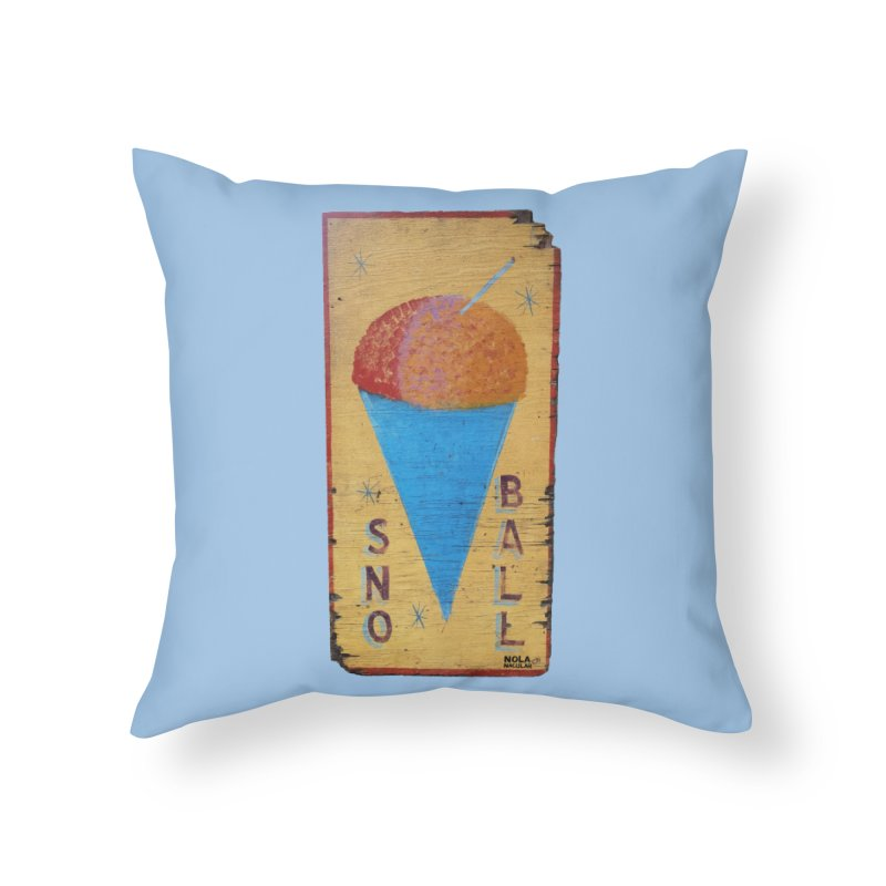 Sno Ball hand-painted sign Home Throw Pillow by NOLA 'Nacular's Shop