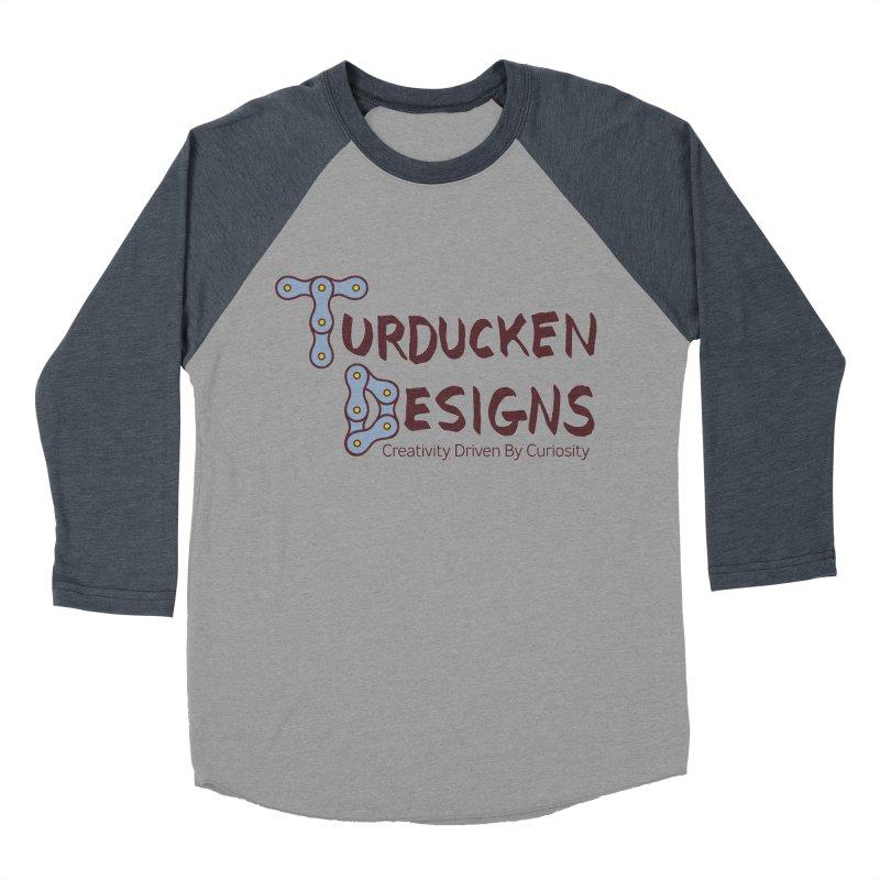 Turducken Designs Men's Baseball Triblend Longsleeve T-Shirt by NOLA 'Nacular's Shop