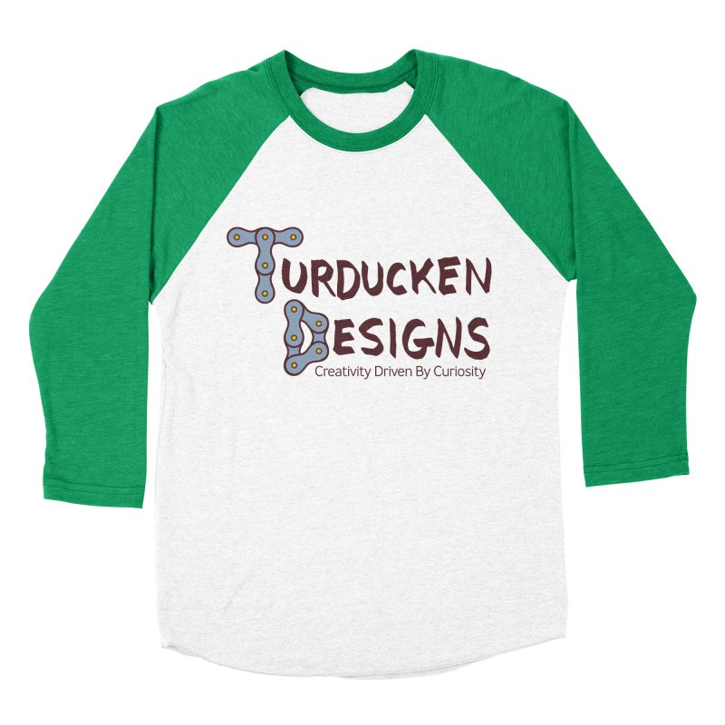 Turducken Designs Men's Baseball Triblend Longsleeve T-Shirt by NOLA 'Nacular's Shop