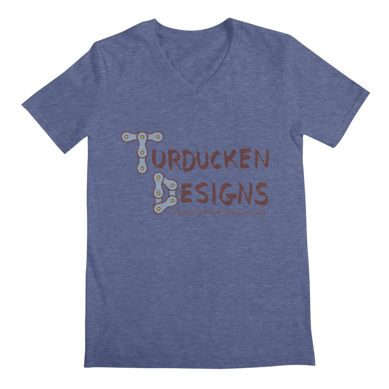 Turducken Designs Men's Regular V-Neck by NOLA 'Nacular's Shop