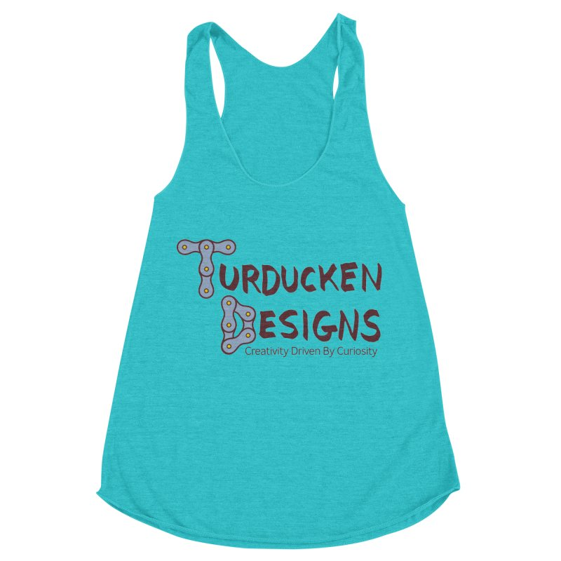 Turducken Designs Women's Racerback Triblend Tank by NOLA 'Nacular's Shop