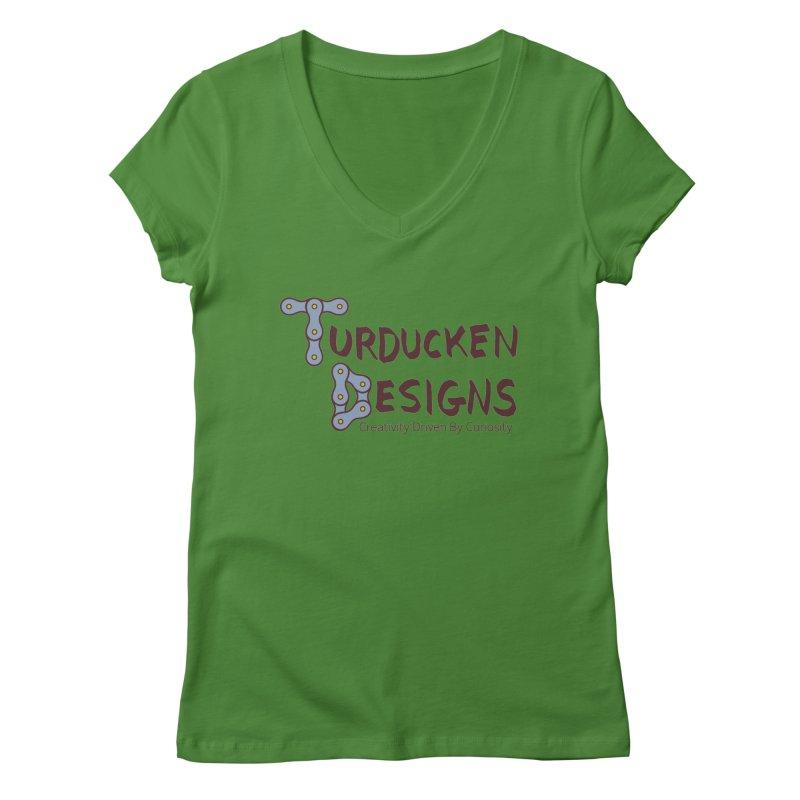 Turducken Designs Women's Regular V-Neck by NOLA 'Nacular's Shop